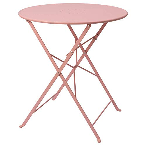 IKEA ASIA SALTHOLMEN - Mesa plegable para exteriores, color rosa