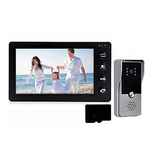 SMLJLQ Wired Video Intercom Door Phone System 7 Inch 2 Monitors with Outdoor Doorbell Camera Support Motion Detection for Home Security (Color : 1 v 1 v 32G)
