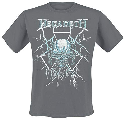 Megadeth Killing is My Business Männer T-Shirt Charcoal S 100% Baumwolle Band-Merch, Bands