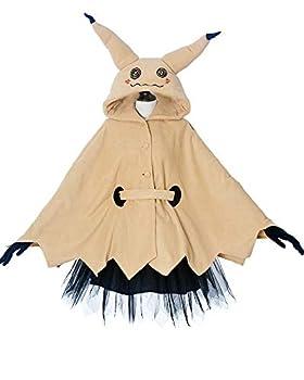 Miccostumes Women s Mimikyu Cosplay Cloak with Skirt Belt Gloves  L