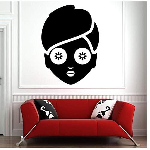 Gezichten huidverzorging massage muur Sticker Badkamer Vrouw Gezicht Vinyl Muursticker Decal Woonkamer Huisdecoratie Schoonheid SalonDecoratie 42x58cm