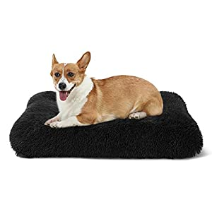 ANWA Dog Bed Small Dogs, Washable Dog Bed Crate Pad for Cage Kennel, Dog Bed Crate Mat 24″