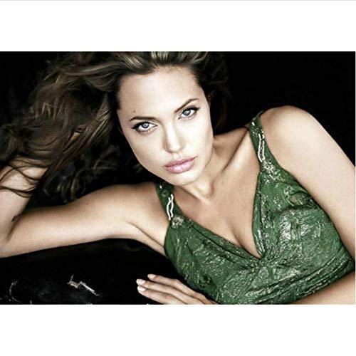 yitiantulong Adhesivo De Pared Lienzo Pintura Moive 2021 The Eternals Angelina Jolie Lip Hot Body Art Queen Mujeres Chica Póster Arte De Pared T-408 (40X60Cm) Sin Marco