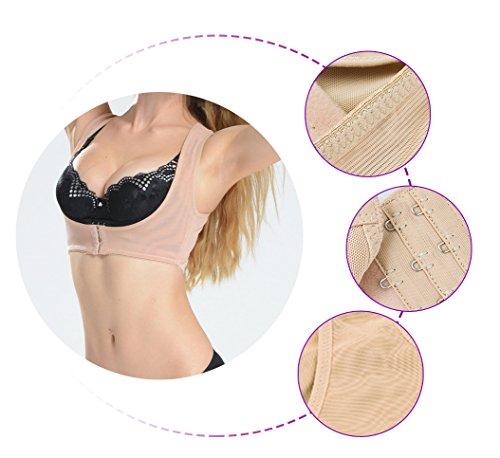 funwill Frauen Bucklige Haltung Form Corrector oberen Schulter mit Push Up BH, L 80-85cm 52.5-60kg
