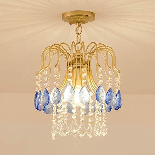 Lámpara de techo de Hoon Art Pasillo para Home Hotel Villaluxury Crystal Chandelier E27 Pequeño Pequeño Pequeño Colgante Luz Europea Romántica Moderna Lámpara Colgante