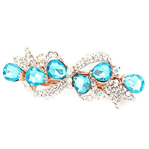Nikgic - Problème de Carte Alliage - Longueur 9cm Convient Aux Femmes Accessoires de Cheveux Pince à Cheveux (Bleu)