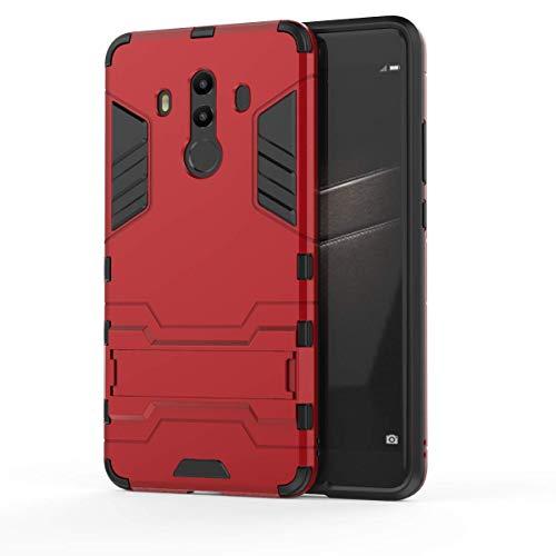 Huawei Mate 10 Pro Funda, CHcase 2in1 Armadura Combinación A Prueba de Choques Heavy Duty Escudo Cáscara Dura PC + Suave TPU Silicona Rubber Case Cover con soporte para Huawei Mate 10 Pro -Red