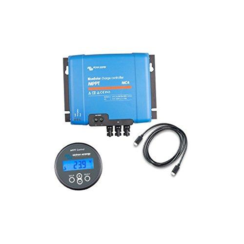 Victron Energy - Set Charge Controller BlueSolar MPPT 150/70-MC4 150VOC 70A + Display MPPT Control - SET-SCC010070300
