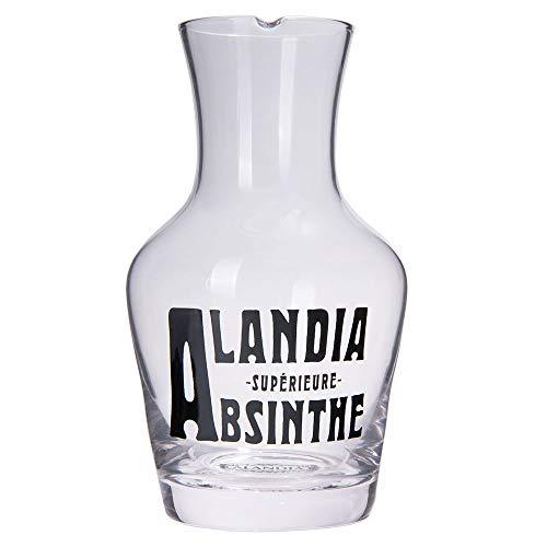 ALANDIA Absinth-Glas Karaffe | Mundgeblasenes Glas | Breite Öffnung für Eiswürfel | Ausgießer | Klassisches 19. Jh. Design