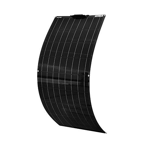 XINPUGUANG Panel solar flexible de 100W 12V Módulo monocristalino para bote coche caravana autocaravana 12V cargador de batería (Black)