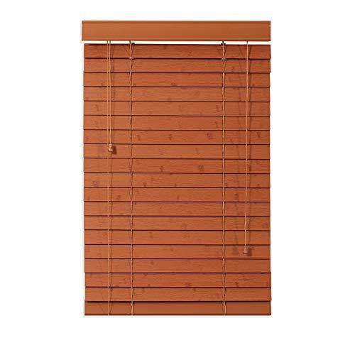VOAOV Fensterdecor Holz Jalousie nach Maß, Echtholz Jalousette mit Zugschnur für den Innen-Bereich, Sichtschutz, Verdunkelungs/Wärmedämmung, Staubdichte, Inkl. Befestigungsmaterialien,80x120cm