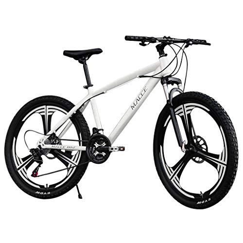 ererthome Rennrad, 26-Zoll-Mountainbikes, Carbon-Mountainbike 21-Gang-Fahrrad mit Vollfederung MTB, Sportfahrrad, Rennräder (White)
