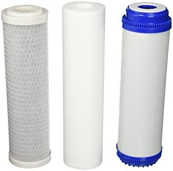 Replacement Water Filter Set: CTO+GAC+Sediment All 5 Micron, Fit