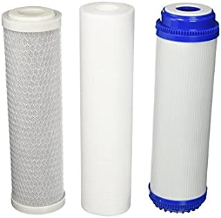 Replacement Water Filter Set: CTO+GAC+Sediment All 5 Micron, Fit Most RO Units by CFS