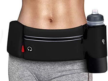 Simptech Running Belt Bag With Foldable Water Bottle Holder Bottles NOT Included No Bounce Large product image