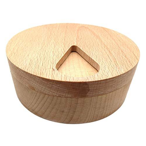 Tamkyo Pastillero de Madera Compartimento de Almacenamiento Dispensador Semanal de Tabletas para Medicamentos Divisores Pastillero de 7 DíAs, Recipientes para Especias de Cocina