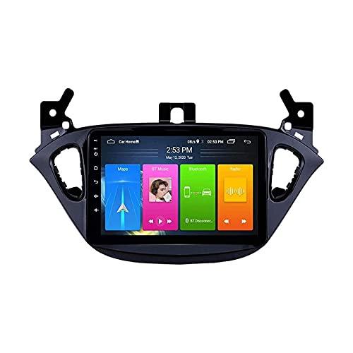 2.5D Touchscreen Player Multimediale Automobile Autoradio Stereo Per Opel Corsa 2015-2019/ADAM 2013-2016 FM Récepteur with Mirrorlink Bluetooth Wifi USB GPS Navigazione,8 core 4g+wifi: 4+64gb