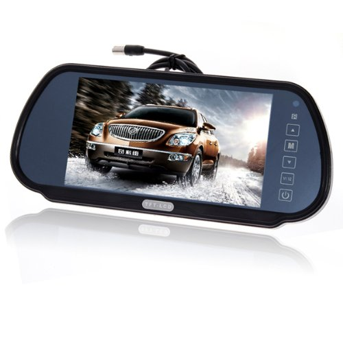"7\"" Zoll LCD TFT Auto KFZ Monitor Rückspiegel für Rückfahrkamera Fernbedienung"