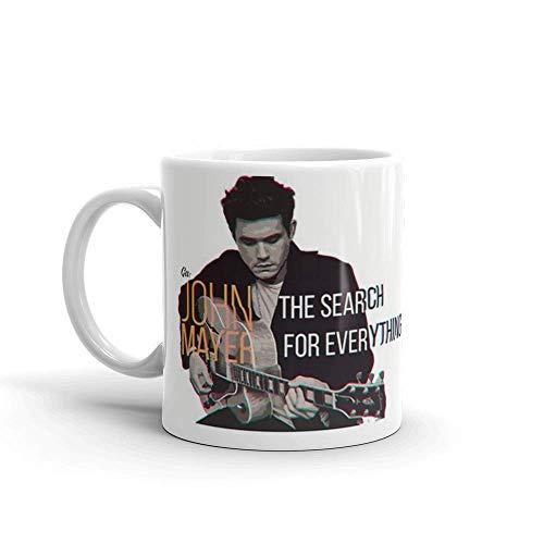 N\A John Mayer: la búsqueda de Todo. La Taza de café de cerámica de 11 oz también es una Gran Taza de té con su asa en C Grande y fácil de agarrar.