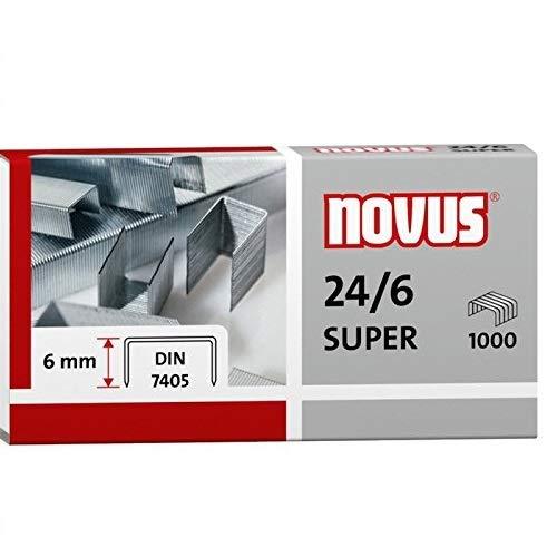 Novus Standardheftklammer für Büroheftgeräte mit einer Schenkellänge von 6 mm, entspre