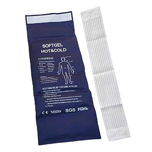 F Fityle Almohadilla de Paquete de Gel Frío de Calor Caliente Muscular Reutilizable de Lujo Y Almohadilla de Primeros Auxilios con Banda Elástica