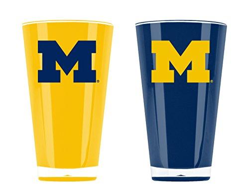 NCAA Michigan Wolverines 20oz Insulated Acrylic Tumbler Set of 2