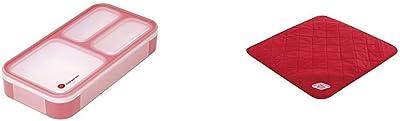 シービージャパン 弁当箱 チェリーピンク 薄型 フードマン 400ml DSK & 弁当箱 包み レッド ランチラッパー 内側撥水加工 DSK【セット買い】
