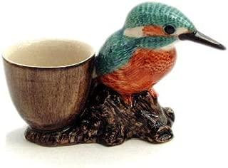 Caille Céramique-Perruche ondulée avec Egg Cup-Violet