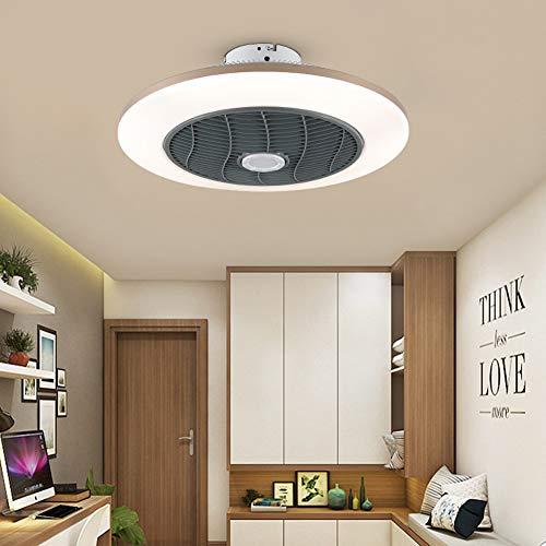 ZMLG Ventilador de Techo con Lámpara Moderno 96W Luces de Techo LED con Mando a Distancia Sala de Estar Dormitorio Ventilador de Oficina Fan Lámpara de Techo, Calefacción en Invierno,55x23cm