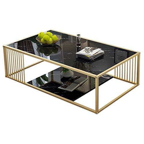 WJMLS Sofá Extremo Mesa de café Mesa de té Simple Moderno Sala de Estar Doble Mesa de café Estante Abierto