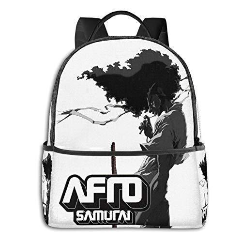 Afro Samurai Laptop Backpack Fashion Theme School Backpack