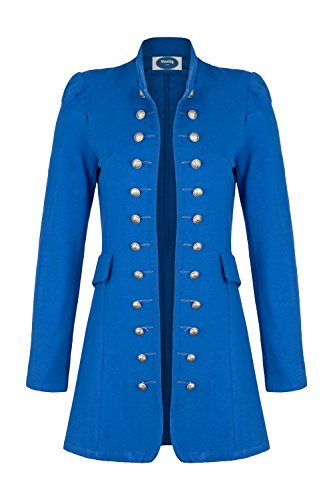 4tuality AO Massimo Military Coat Slim Fit Gr. L Royalblau