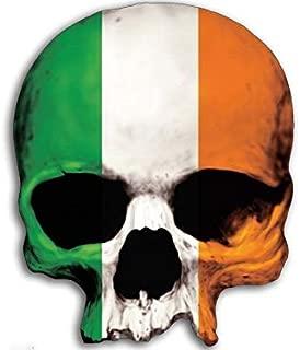 American Vinyl Skull Head Shaped Irish Flag Sticker (Ireland Dublin Boston Chicago Love)