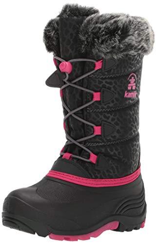 Kamik Snowgypsy3 Snow Boot, Black/Bright Rose, 2 M US Little Kid