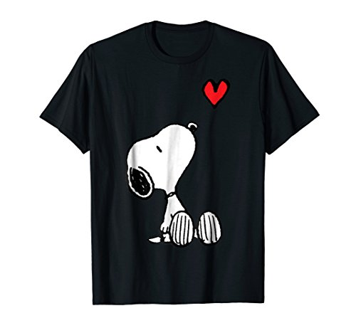 Peanuts Heart Sitting Snoopy T-Shirt