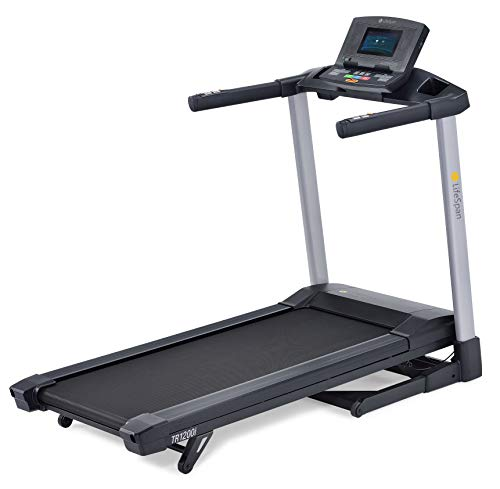 LifeSpan Fitness TR1200iT Laufband bis 18 km/H, LifeSpan Club App, 15% Steigung, Bluetooth USB, große Lauffläche mit Dämpfungssystem bis 90 kg - Faltbarer Kompaktspeicher