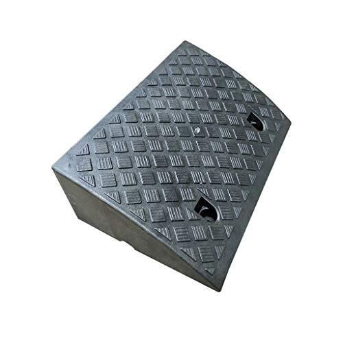 Z-W-Dong 17CM encintado Silla de Ruedas rampas Negro/Amarillo de plástico Antideslizante Mat vehículos Pesados Cuesta Arriba Pad Estable Fácil de Instalar rampas for vehículos Rampas