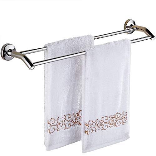 Wtbew-u Toallero para baño, toallero, barra de baño, acero inoxidable, barra doble, 70 cm (color: 70 cm)
