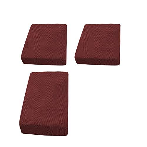Fenteer 2 Einzel Und 1 Doppelsitzer Rotes Stretch Sofa Futon Sitzbank Kissenbezug Couchbezug Möbelbeschützer Vor Tränen, Verschütten Schützen