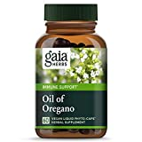 Gaia Herbs, Oil of Oregano, Immune and Intestinal Support, Vegan Liquid Capsules, 60 Count.