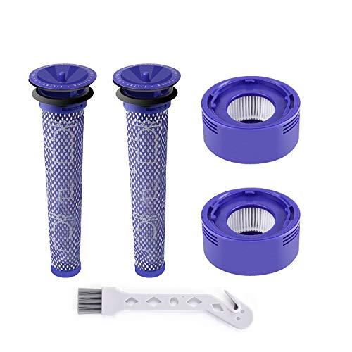 Leadaybetter V8 Filtros para Dyson V8 V7 2 Filtros HEPA y 2 pre Filtro para Dyson V8 V7 Animal y Juego de Vacío sin Cable Absoluto, Reemplazar # DY-96566101, DY-96747801