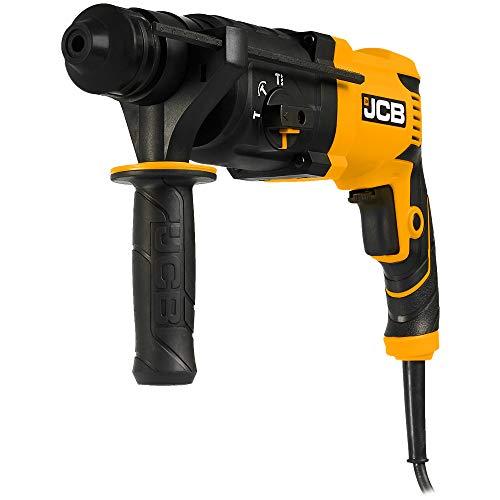 JCB Bohrhammer RH850 (850W, Schlagenergie 3,5 Joule, SDS-plus, Bohren, Hammerbohren, Schlagbohren, Meißeln, Koffer) Kombihammer, Stemmhammer, Meißelhammer, Schlaghammer