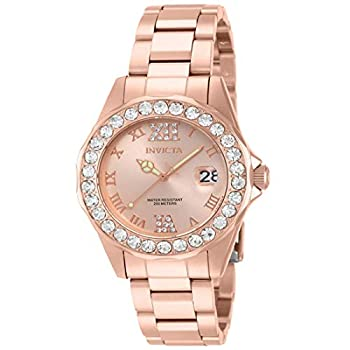 Invicta Women s Pro Diver 38mm Rose Gold Tone Stainless Steel Quartz Watch Rose Gold  Model  15253