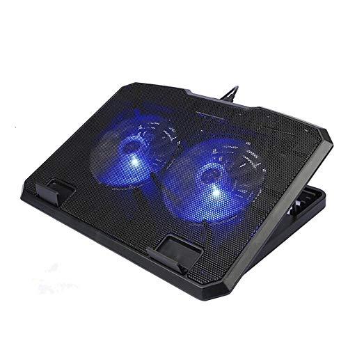 YIJIAHUI Laptop Koeling Pad Ultra-dunne Notebook Computer Radiator Dual Fan Mute Verstelbare Hoogte Lift Warmtegootsteen voor Gamers en Kantoor