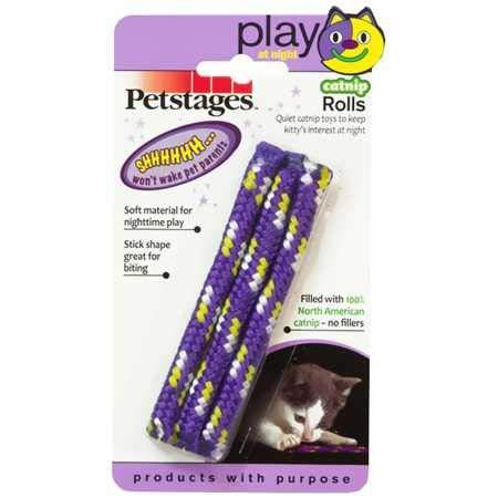 Petstages 740 Night Time Catnip Rolls Nighttime Toys...