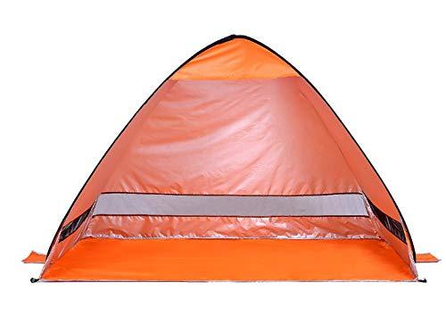 GDD Refugio de playa, tienda de campaña para playa, color naranja, instantáneo, pop up, ligera, protección UV, protección solar