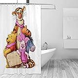 Cartoon Winnie The Pooh Duschvorhang Liner Wasserdichter Polyester Stoff Bad Duschvorhänge Stoff Duschvorhang 12 Haken 60 x 72 Zoll