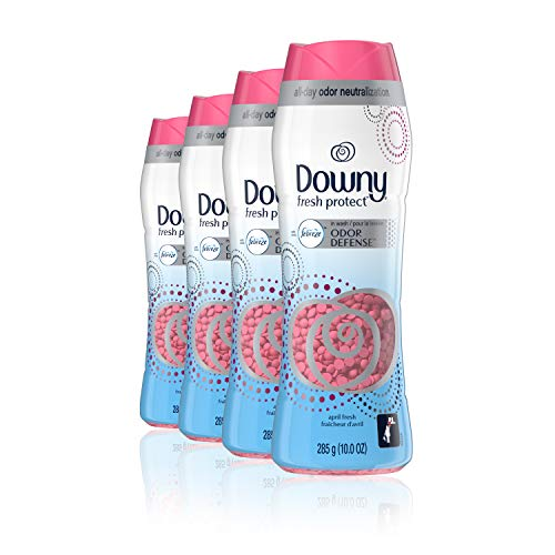 Downy Fresh Protect April Fresh with Febreze Odor Defense in-wash Scent Beads, 10 oz, 4 Count