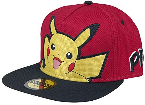 Lobcede.be Unisex Pikachu Popart Snapback Bandana, Rot, Standard