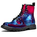 Zapatos impermeables huecos de seta mágica con cordones planos para arriba botines de tacón bajo de trabajo botas de combate, color, talla 40 2/3 EU